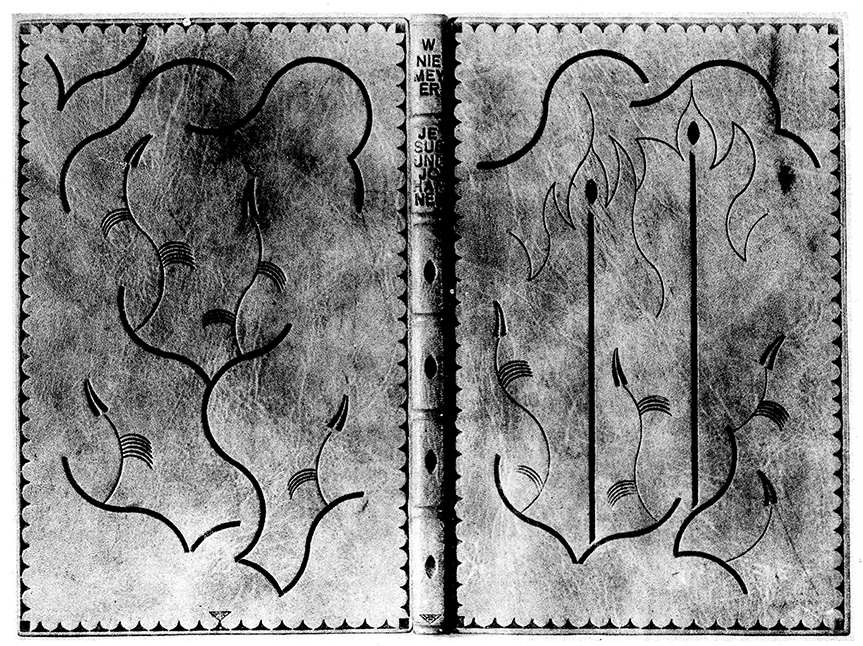 Vintage Hand Made Blank Book Manuscript Writing Beautiful Leather Binding