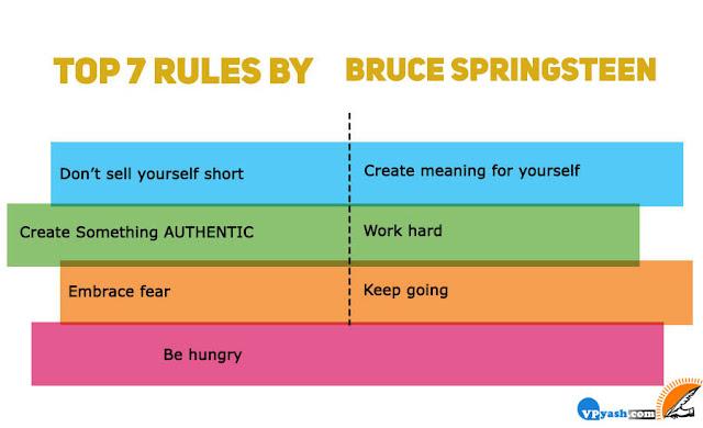 Bruce Springsteentop 7 inspiring rules for success