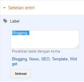 Menghapus Label atau Kategori pada Posting