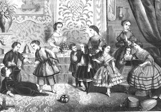 A group of children, from Der Bazar, 1861