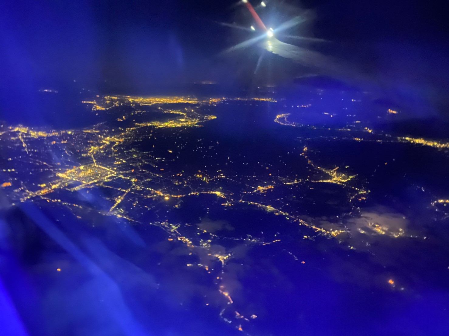 飛機上夜景