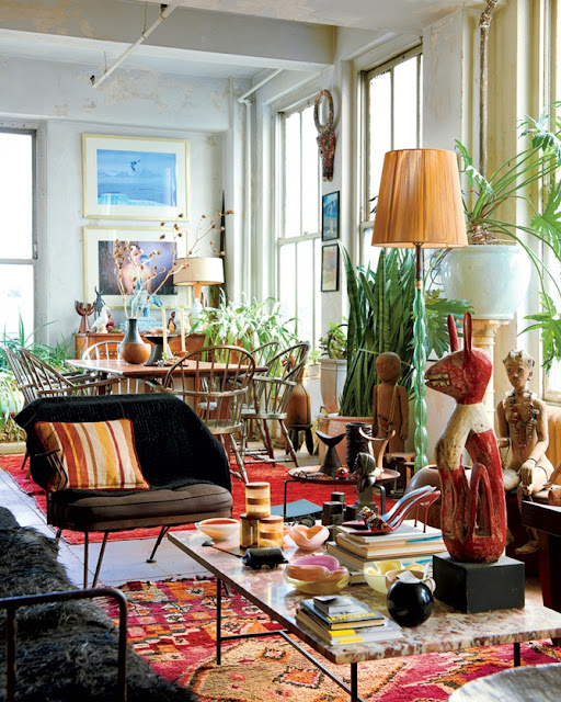 Green Eclectic Home Decor