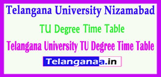 TU Degree Telangana University Nizamabad 2018 Degree Time Table