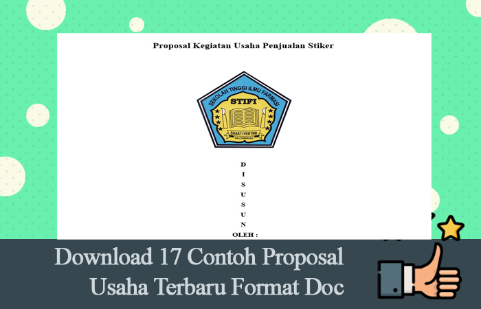 Download 17 Contoh Proposal Usaha Terbaru Format Doc