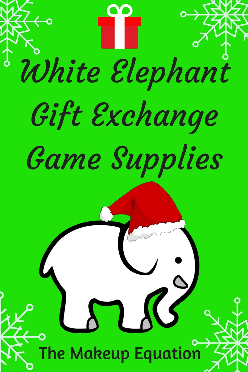 White elephant gift exchange game supplies the makeup equation are you planning on having a white elephant gift exchange this year at your holiday party negle Gallery