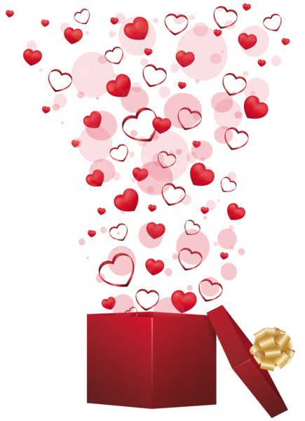 heart in box valentines day clip art