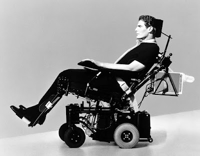 Superman - Christopher Reeve in a wheelchair