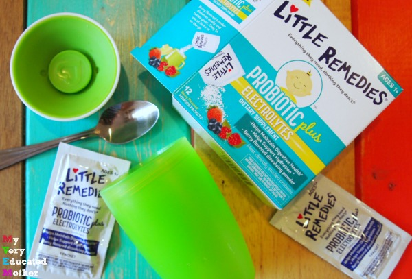 It's super easy to mix up a cup of Little Remedies® Probiotic Plus!