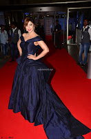 Payal Ghosh aka Harika in Dark Blue Deep Neck Sleeveless Gown at 64th Jio Filmfare Awards South 2017 ~  Exclusive 032.JPG