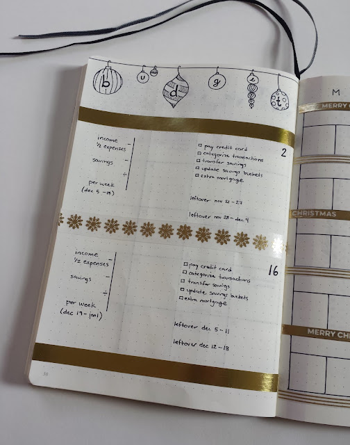 Rein in your spending before the holiday season with a Bullet Journal budgeting worksheet.