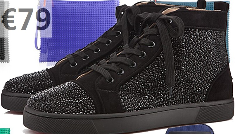 f43e306677b louboutin strass sneakers baskets christian louboutin homme noir strass pas  cher