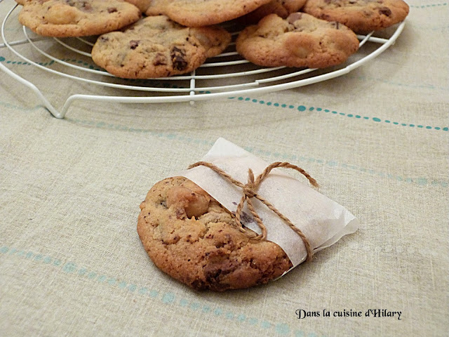 Cookies aux deux chocolats et noix de macadamia