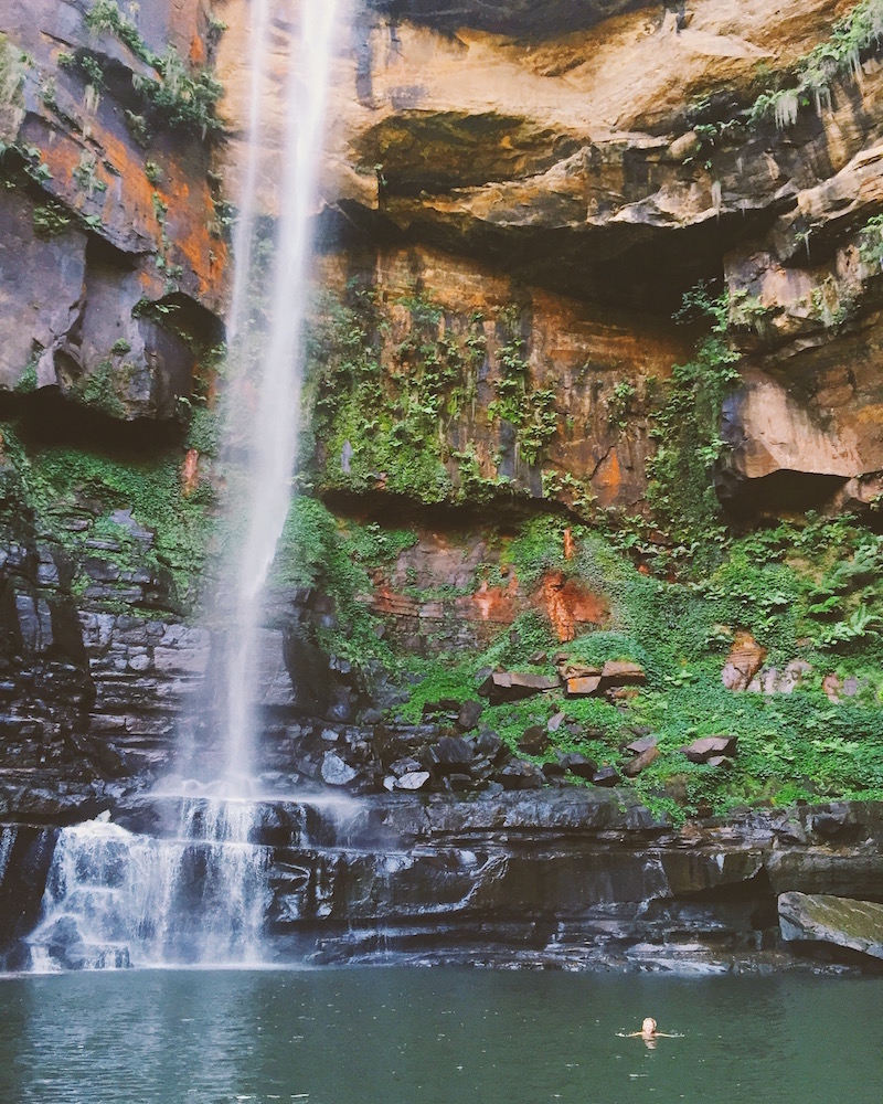 Waterfalls you can swim under in Australia. Australia Travel Guide Things To Do For Hip Young Adults Traveling In Australia in Melbourne and Sydney. Food and Drink suggestions for non touristy things to do in sydney and melbourne australia as told by Bryn Newman a San Francisco Fashion Blogger