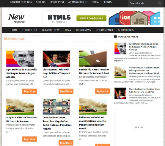 newsmag responsive blogger template