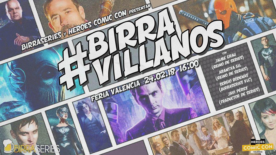 #BirraVillanos en la Heroes Comic Con de Valencia