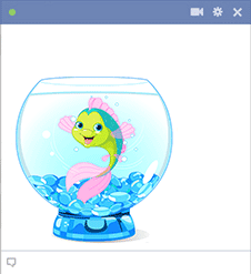 Cartoon fish in a bowl