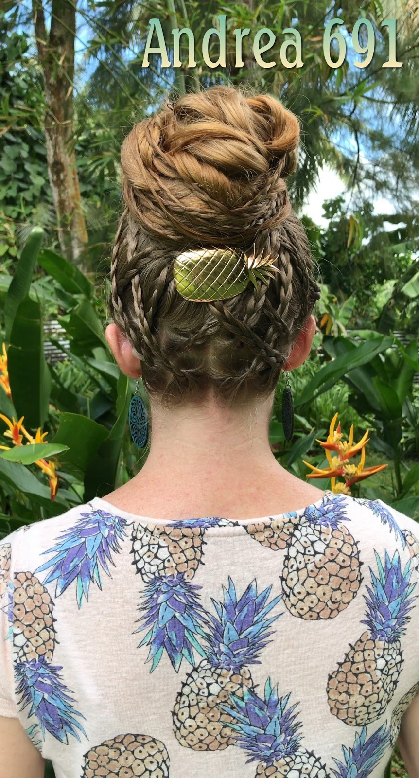 Braids Hairstyles For Super Long Hair Pineapple Updo