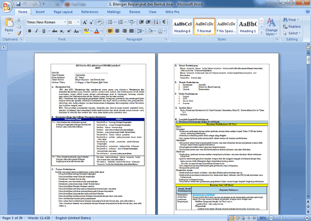 RPP Matematika SMP Kelas 9 Kurikulum 2013 Revisi Terbaru