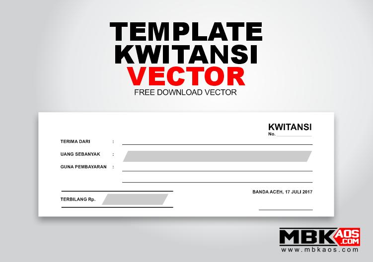 Template Kwitansi Pembayaran Cdr Mbkaos