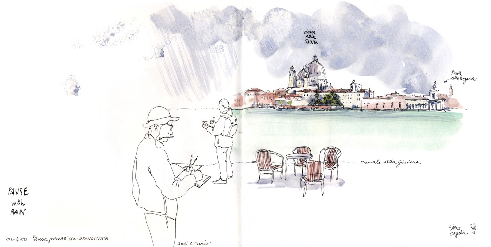 1c3d6623abe7f Reporting from Giudecca, the other side of Venice /1 | Urban Sketchers