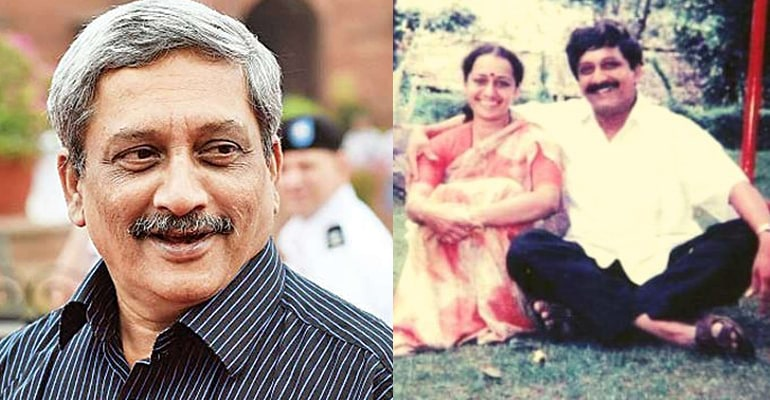 Manohar Parrikar With His Wife Medha Parrikar, Medha Parrikar (Manohar Parrikar's Wife) Wiki, Age, Biography, Family & More