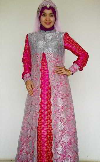 10 Model Kebaya Muslim Untuk Wanita Gemuk Berjilbab Modern Terbaru