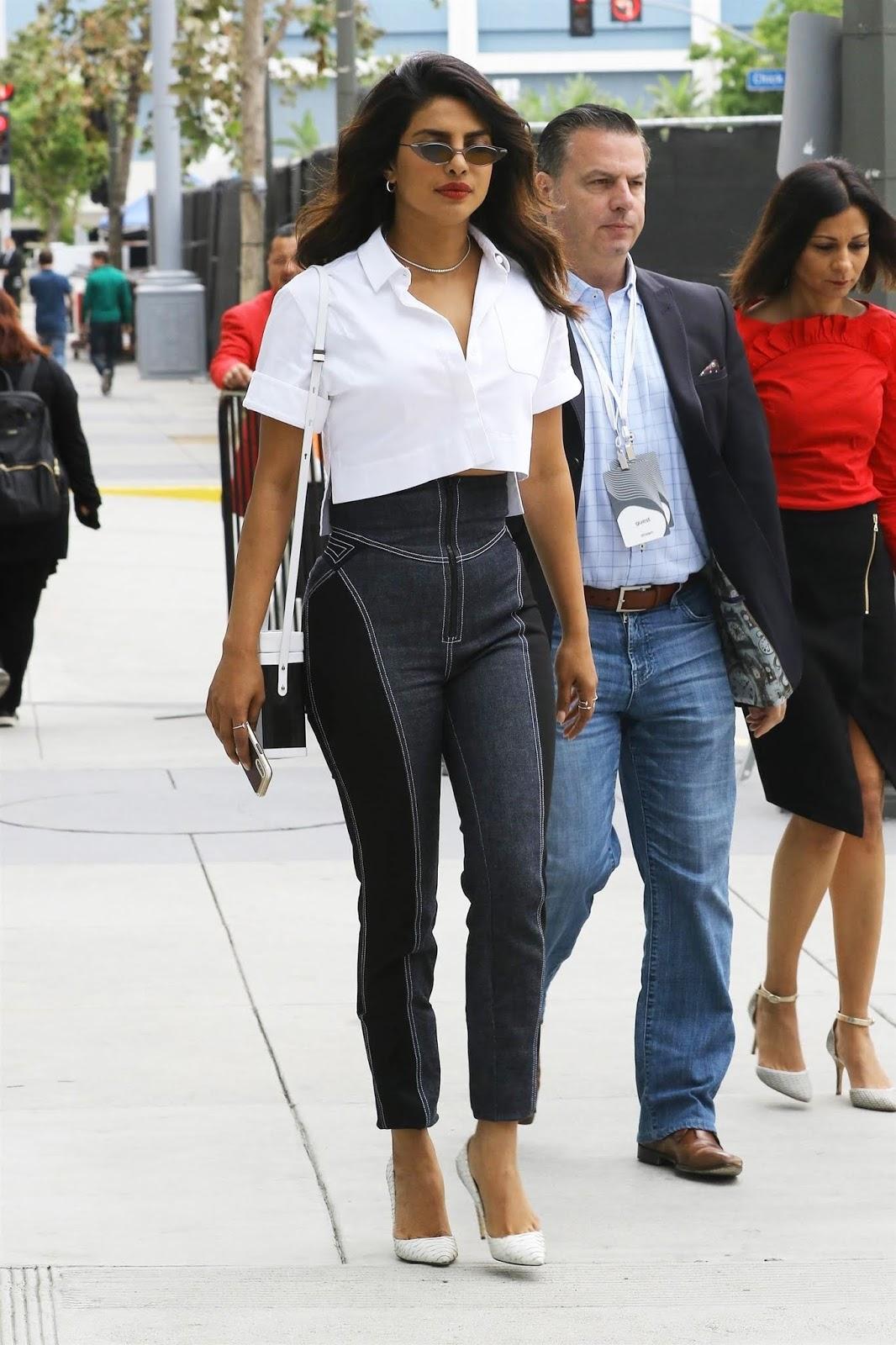 Priyanka Chopra is seen leaving the Microsoft Theater in Downtown Los Angeles