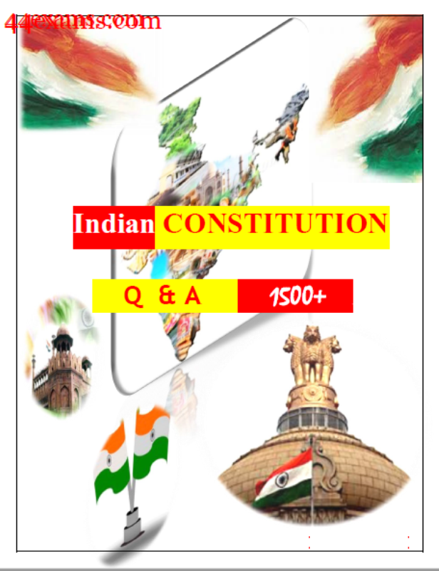 Indian Constitution 1500 Questions and Answers : For All Competitive Exam PDF Book