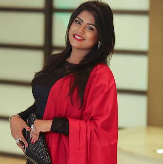 Shanta Jahan In Red Dress