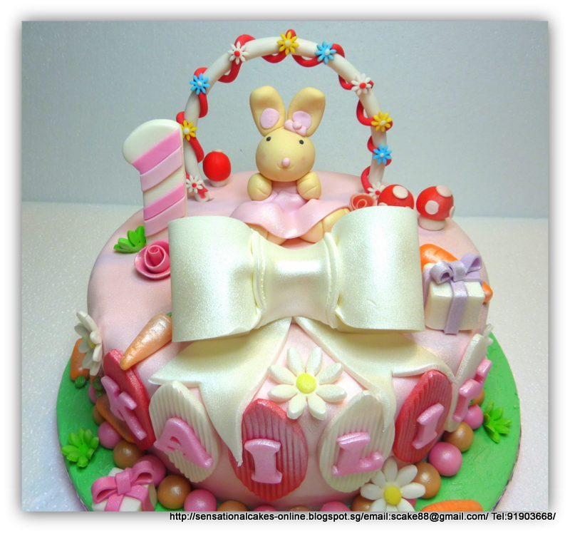 Cakes2Share Singapore: RABBIT GIRL CAKE / 1ST YEAR