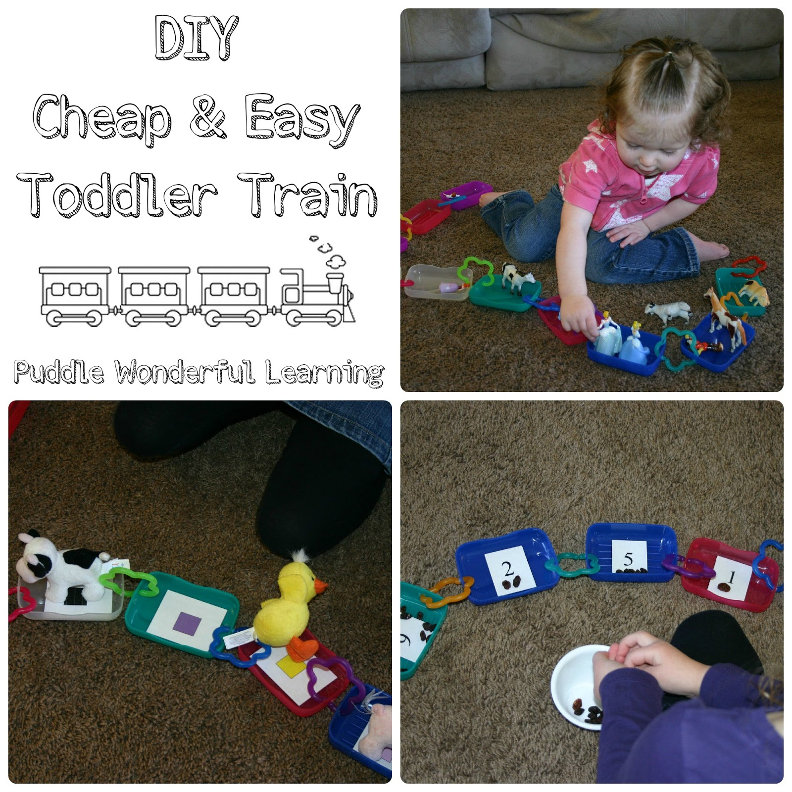Puddle Wonderful Learning Toddler Activities Diy Cheap Amp Easy Toddler Train