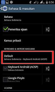 Cara mengganti Bahasa Keyboard AOSP Android