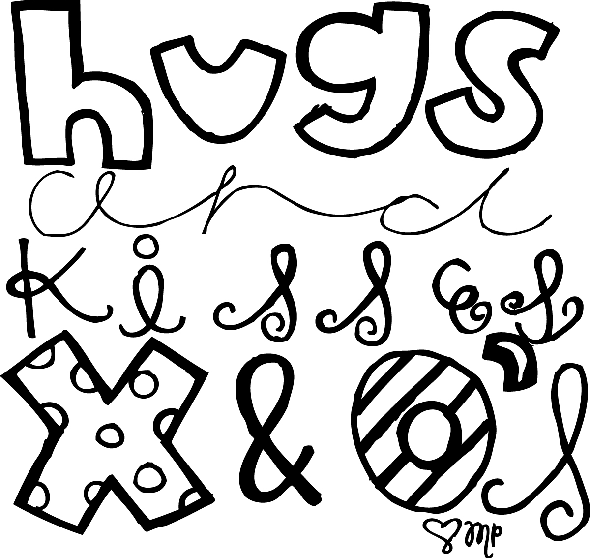 All Things Girly Illustrating: hugs and kisses