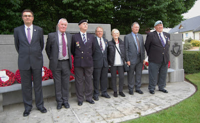 Members of the Tyneside Irish Brigade association, with permission of Lieutenant Clare Lomas