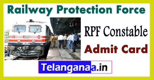 RPF Railway Protection Force Constable Syllabus 2017 Exam Date Admit Card