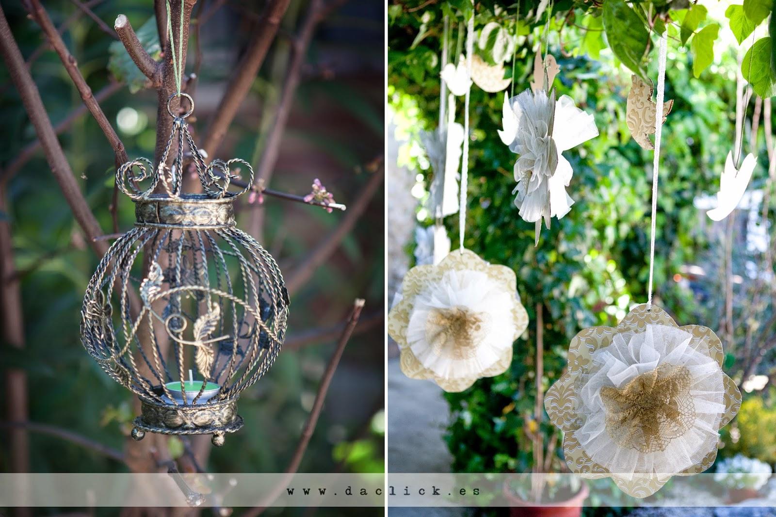 decoración de boda pompones vintage