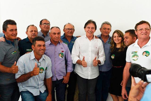 Prefeito Nenem do Cazuza oficializa apoio ao senador Eunício Oliveira em reunião com lideranças da Ibiapaba