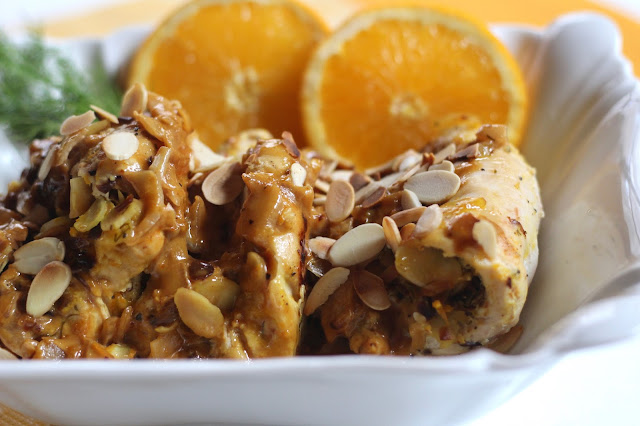 Diary of a Mad Hausfrau: Toasted Almond Chicken Roulade in ...