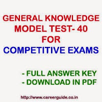 General Knowledge GK Sample Practice Test Paper - 40 MCQs