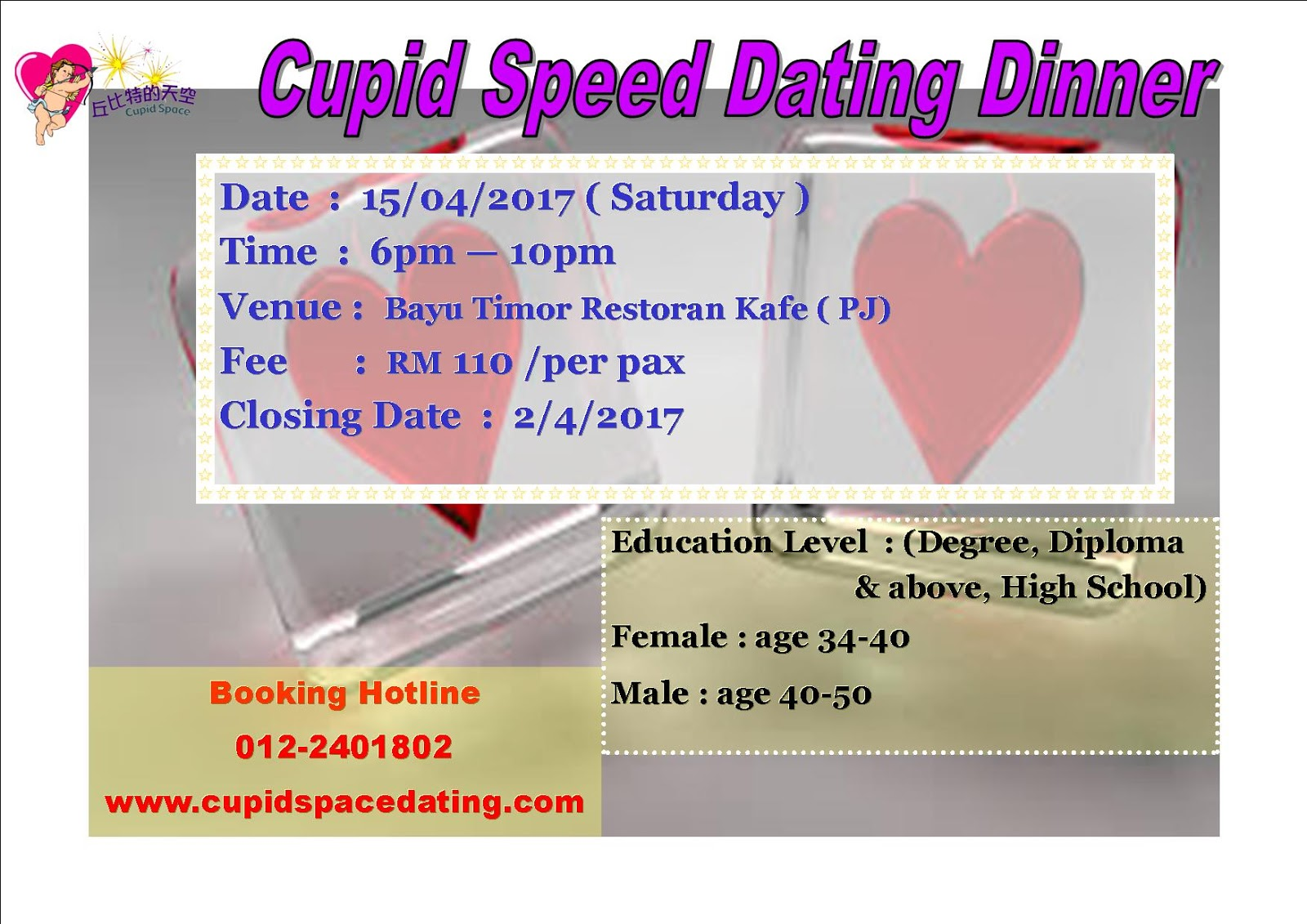 Speed dating age limit