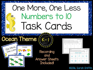 https://www.teacherspayteachers.com/Product/One-More-One-Less-Ocean-Math-Center-Task-Cards-2560165