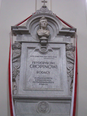 Chopin's Heart at Holy Cross Church, Photo by Maja Trochimczyk