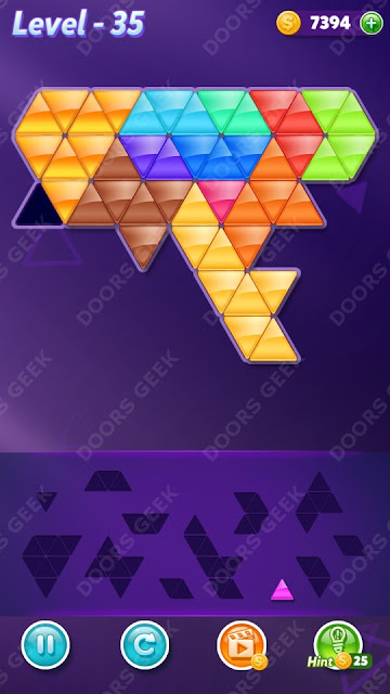 Block! Triangle Puzzle 12 Mania Level 35 Solution, Cheats, Walkthrough for Android, iPhone, iPad and iPod