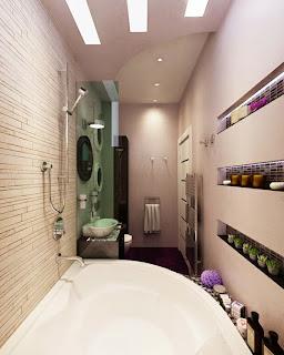 baño estrecho y largo
