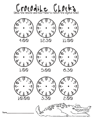 what time is it mr crocodile worksheets