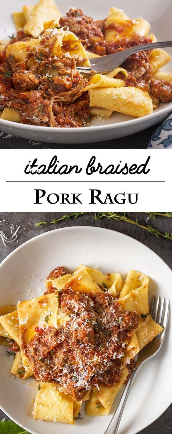 Italian Braised Pork Shoulder Ragu