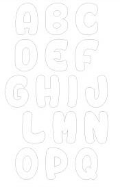 Letras do alfabeto para imprimir