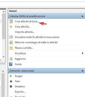Crea attività di base Windows