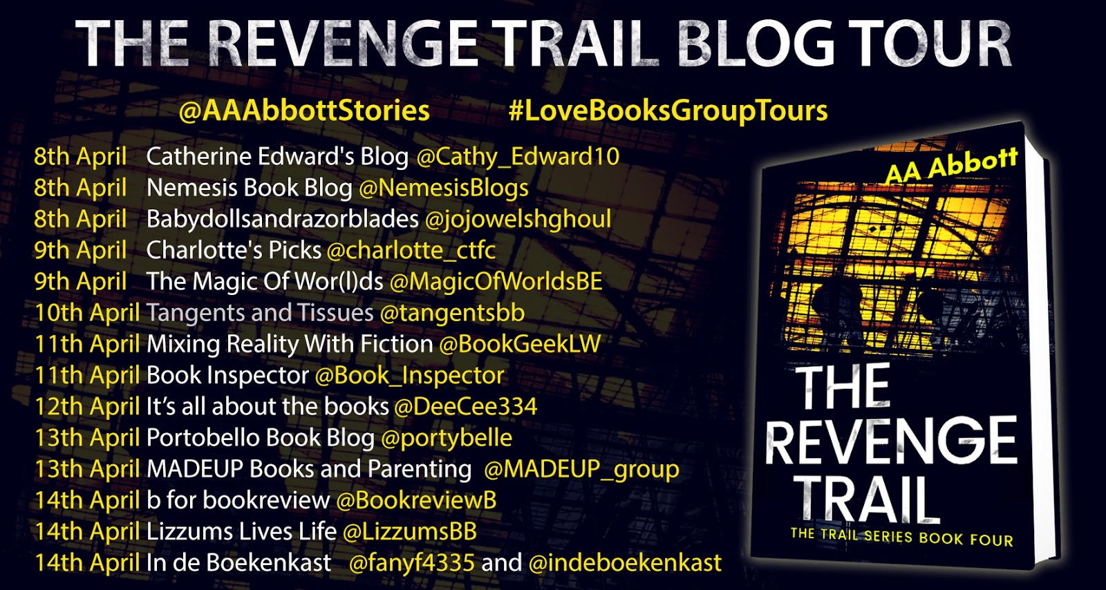 The Revenge Trail Book Tour Dates