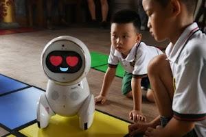 Meet Robot Teaching Children At A Kindergarten School In China